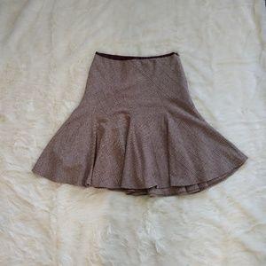 Banana Republic | Plaid Stretch A-Line Skirt